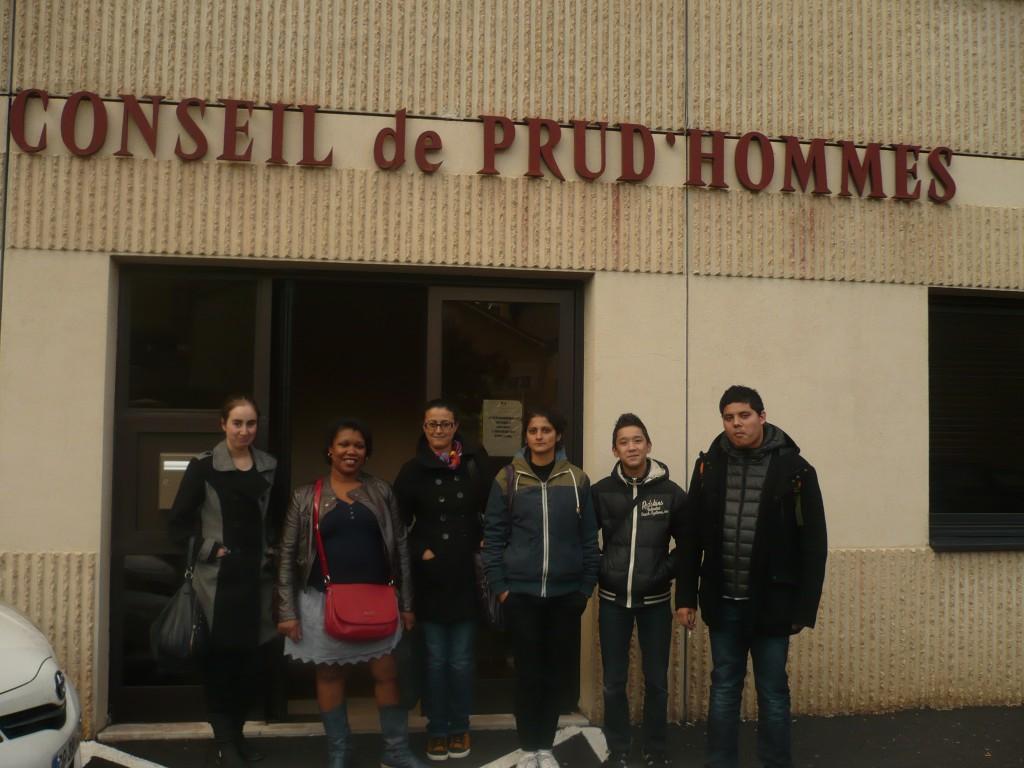 Les stagiaires de l'E2C Devant le Conseil des Prud'hommes du Puy